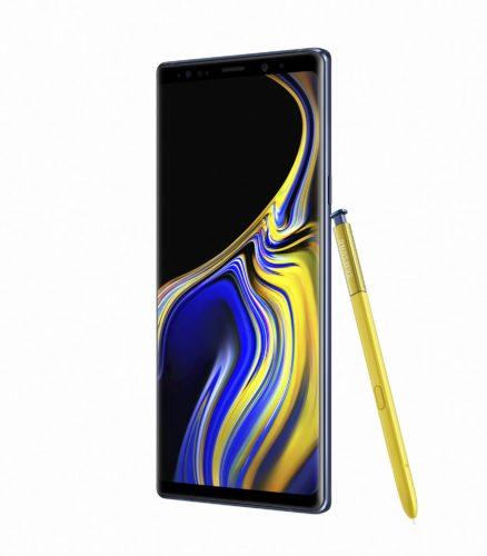 Samsung Galaxy Note 9 blauw overzicht