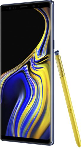 Samsung Galaxy Note 9 azul visión general
