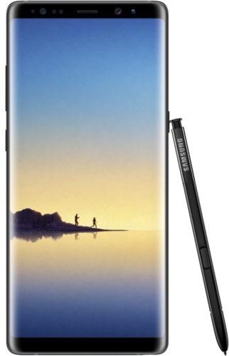 Samsung Galaxy note8 voorkant pen zwart