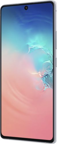 Samsung Galaxy S10 Lite white front right side