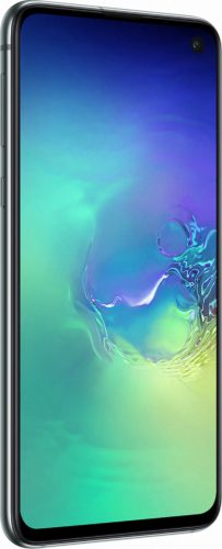 Samsung Galaxy S10e green front left side