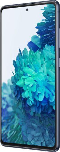 Samsung Galaxy s20 fe blu copertina frontale lato destro