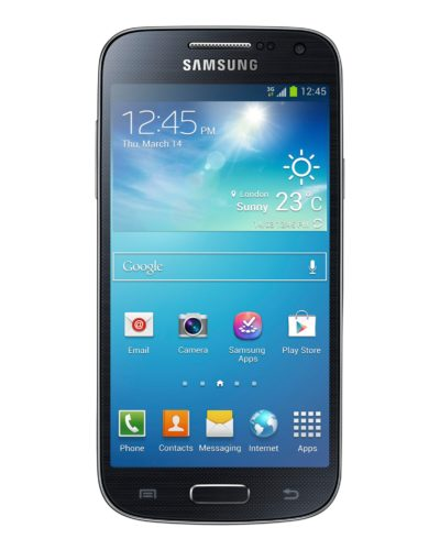 Samsung Galaxy S4 mini voorkant zwart