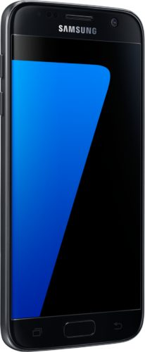 Samsung Galaxy S7 zwart voorkant linkerzijkant schuin