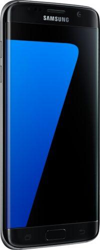 Samsung Galaxy S7 edge zwart voorkant linkerzijkant schuin