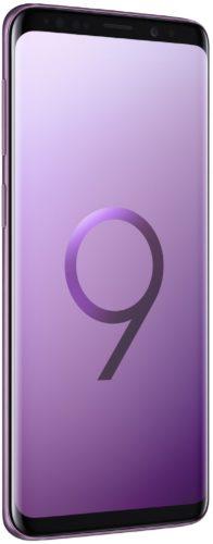 Samsung Galaxy S9 paars voorkant linkerzijkant