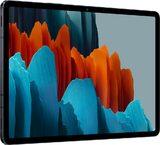 Samsung Galaxy Tab S7 zwart voorkant linkerzijkant