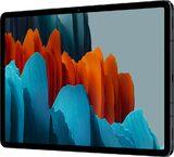 Samsung Galaxy Tab S7 zwart voorkant rechterzijkant