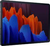 Samsung Galaxy tab s7 plus wifi negro tapa delantera lado izquierdo