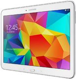 Samsung Galaxy tab4 ve 101 wifi white front right side tilted ed