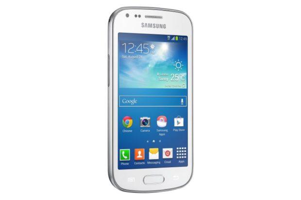 Samsung Galaxy Trend Plus schuin wit