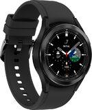 Samsung Galaxy Watch 4 Classic 42mm zwart voorkant linkerzijkant