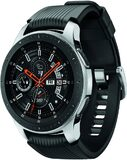 Samsung Galaxy Watch 4G 46mm silber Vorderseite rechte Seite