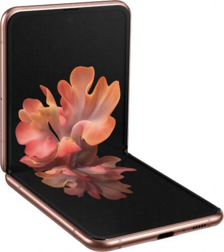 Samsung Galaxy Z Flip 5G bronzo all'interno di aprire aslant