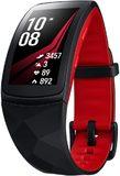 Samsung Gear Fit2 Pro zwart rood voorkant schuin