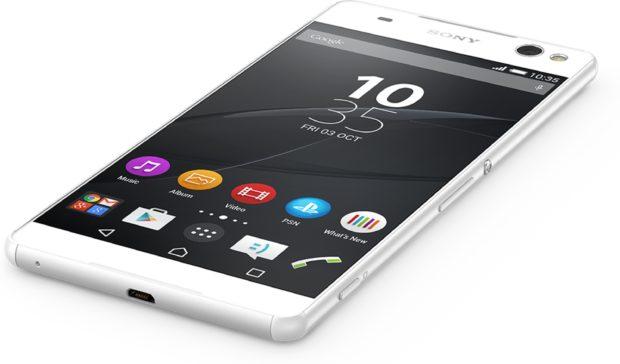 Sony Xperia C5 Ultra wit schuin