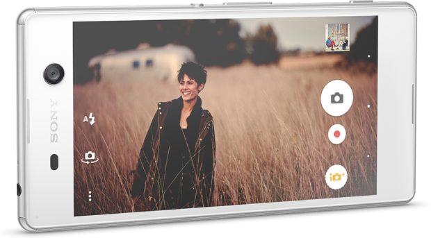 Sony Xperia M5 wit gedraaid