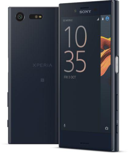 Sony Xperia X Compact zwart overzicht