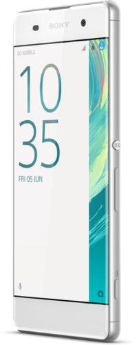 Sony Xperia XA wit voorkant rechterzijkant schuin