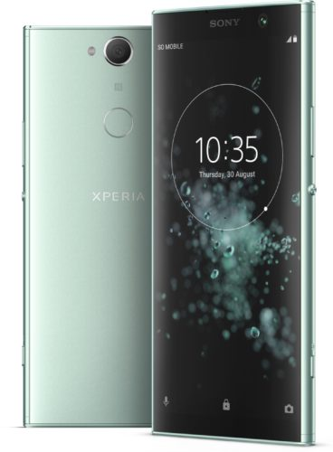 Sony Xperia XA2 Plus groen overzicht
