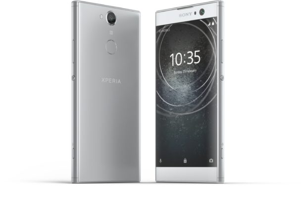 Sony Xperia XA2 zilver overzicht