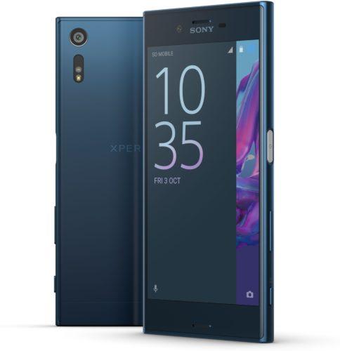 Sony Xperia XZ blauw overzicht