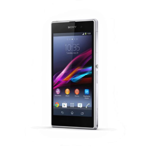 Sony Xperia Z1 voorkant schuin wit