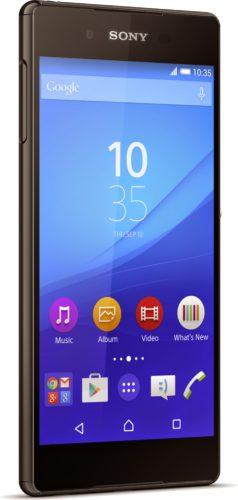 Sony Xperia z3 plus zwart linkerzijkant