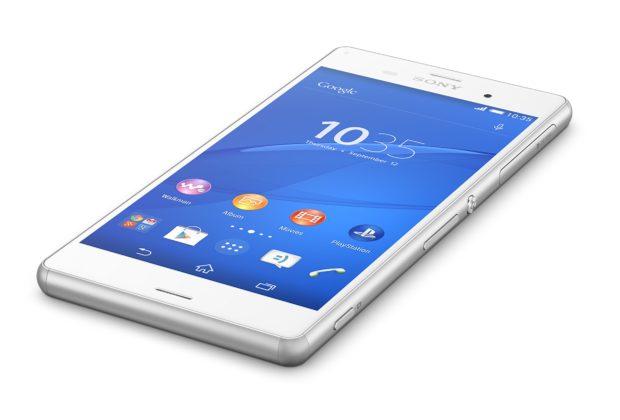 Sony Xperia Z3 wit schuin
