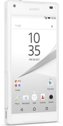 Sony Xperia Z5 Compact wit voorkant linkerzijkant