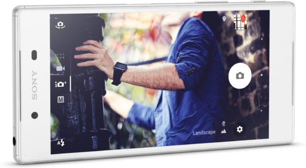 Sony Xperia Z5 wit gedraaid