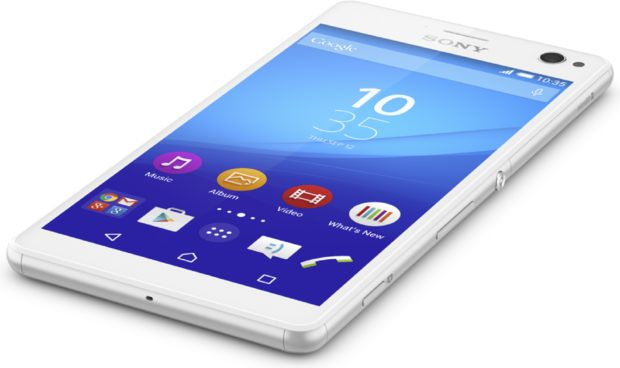 Sony Xperia C4 wit liggend