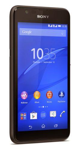 Sony Xperia E4g zwart zijkant