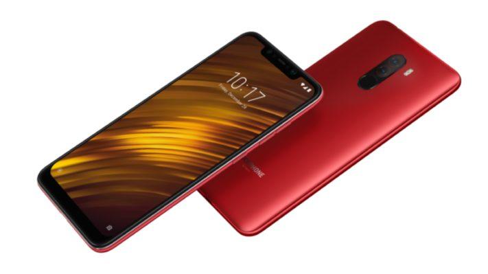 Xiaomi Pocophone F1 rood overzicht