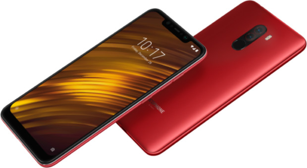 Xiaomi Pocophone F1 red overview